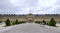 Front entrance to Les Invalides - Paris France Stock Footage