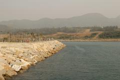 Junk Bay, Tseung Kwan O bay - stock photo