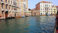 VENICE, ITALY  Waterbus vaporeto tourist tour pov Stock Footage