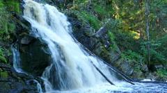 Yukankoski waterfall on river Kulismayoki, Karelia Stock Footage