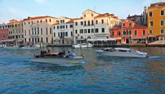 Small boats tourist public transportation Stock Footage