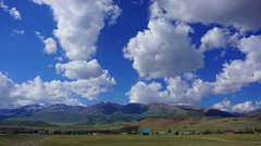 Timelapse landscape in Altay mountains, zoom in Stock Footage