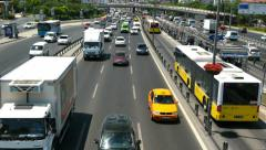 Multi-lane highways in Istanbul Stock Footage