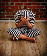 man prisoner - stock photo