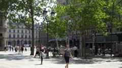 Kiosque des Noctambules - Metro entrance - Paris France Stock Footage