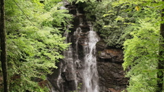 beautiful waterfall cherokee reservation nc - stock footage