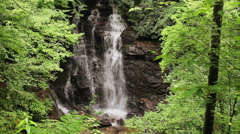 waterfall and river rocks cherokee reservation nc 1 - stock footage