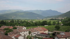 Italian Town in the Prosecco County  07 Stock Footage