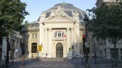 Exterior Bourse de Commerce building - Paris France Stock Footage
