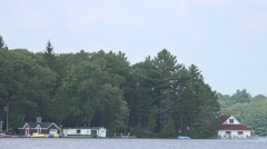 Three Boathouses Stock Footage