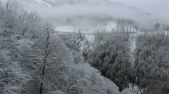 Panorama of Rosa Khutor Alpine Resort Stock Footage
