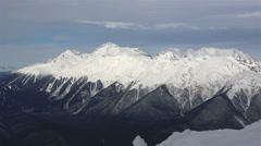Stock Video Footage of Panorama of Caucasus Mountains in Rosa Khutor Alpine Resort