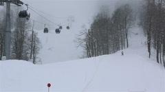 Rosa Khutor Alpine Resort in the mist - stock footage