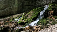 Mountain clean water source Stock Footage