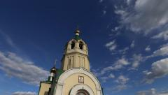 Churh and clouds 4K Stock Footage