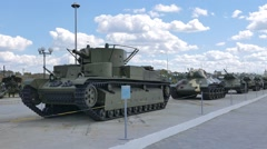 Older tanks. Part 1. Museum of military equipment, Pyshma, Ekaterinburg, Russia. Stock Footage