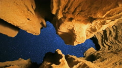 3 Axis Motion Control Astro Time Lapse of Stars through Keyhole Cave -Zoom In- Stock Footage