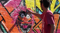 Upfest 2015, Europe's largest, free, street art & graffiti festival Stock Footage