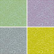 Irregular concentric circles pattern set in different colors Stock Illustration
