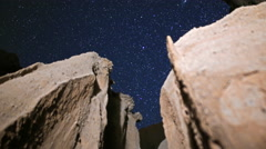 3 Axis Motion Control Astro Time Lapse of Stars over Slot Canyon -Zoom Out- - stock footage