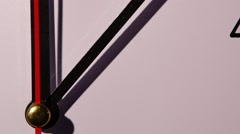 Stock Video Footage of Photo of clock showing several minutes to noon. close up. slow motion