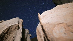 3 Axis Motion Control Astro Time Lapse of Stars over Slot Canyon -Long Shot- Stock Footage