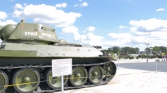 The average tank T-34-76 mod. 1942 - Ural for front. Pyshma, Ekaterinburg, Stock Footage