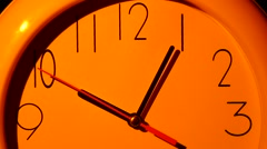 Vector Clock Icon illustration. Close up. slow motion - stock footage