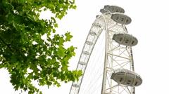 The Millennium Wheel, London Eye, camera under it Stock Footage