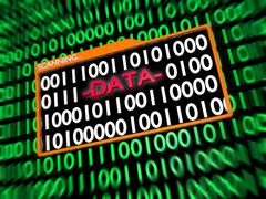 Scanning Hidden Digital Data - stock illustration