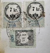 old postal stamp - stock photo