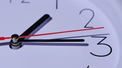 Close-up office clock, dial of hours, slow motion - stock footage