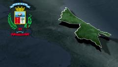 Limon whit Coat of arms animation map - stock footage