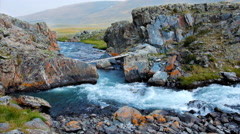 River Elangash in Altai mountains - stock footage