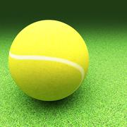 Stock Illustration of Tennis over lawn ground