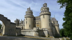 Exterior of Chateau de Pierrefonds - France Stock Footage