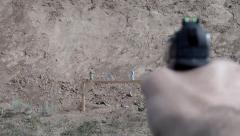 Air gun shooting Stock Footage