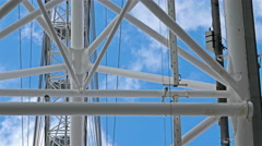 Close view of the Millennium Wheel, London Eye Stock Footage
