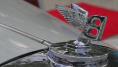 Vintage Bentley 1950s | Hood Ornament | Rack Focus | Red Carpet - stock footage