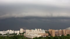 Powerful thunderstorm over the city, timelapse, Moscow Stock Footage