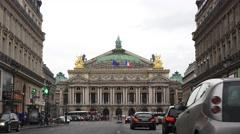 The Opéra National de Paris or Palais Garnier (in 4K) in Paris, France. Stock Footage