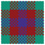 Three colored tartan Stock Illustration