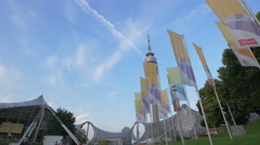 The Olympic Tower, Munich Stock Footage