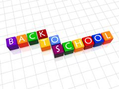 back to school in colour 2 - stock illustration