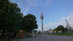 The Olympiaturm in Munich Stock Footage