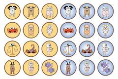 Zodiac web buttons Stock Illustration