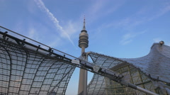 The Olympic Tower in Munich Stock Footage