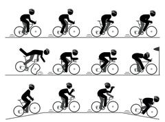Stock Illustration of Bicycle racing pictogram