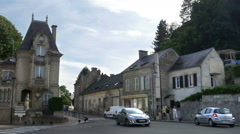 Typical Street - Pierrefonds France Stock Footage