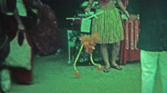 HAWAII 1976: Walking bird toy puppet marionette tourist goods. Stock Footage